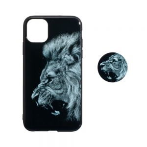 TPU Print with Popsocket for Apple Iphone 11 Pro Цвет Лев