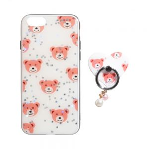 TPU Print with Ring for Apple Iphone 8G Цвет Мишки