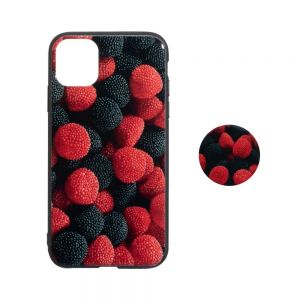 TPU Print with Popsocket for Apple Iphone 11 Pro Max Цвет Земляника