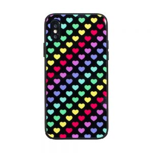 Чехол Case Original Glass Print for Apple Iphone X / Xs Цвет Сердца