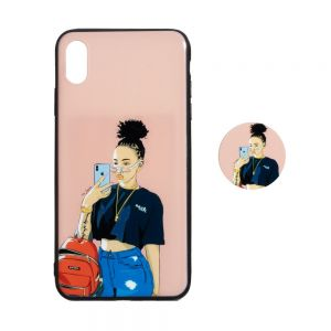 TPU Print with Popsocket for Apple Iphone Xs Max Цвет Селфи