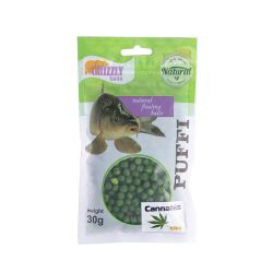 Прикормка Хук Puffi Grizzly baits конопля, 30г (венгерский силикон)