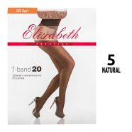 Колготки женские Elizabeth 20 den PRESTIGE T-Band Natural 5 - фото 2