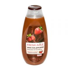 Крем-гель для душа Fresh Juice 400 мл chocolate&strawberry - фото 2