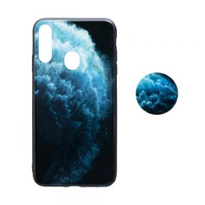 Чехол TPU Print with Popsocket for Samsung A20s Цвет Волна