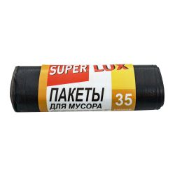 Пакет для мусора Super Lux  LD 50*60/35л  15 шт. черный(Super Choice)