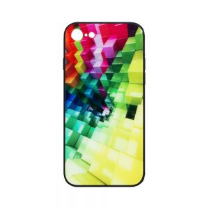 Чехол Case Original Glass Print for Apple Iphone 7G / 8G Цвет Кубы